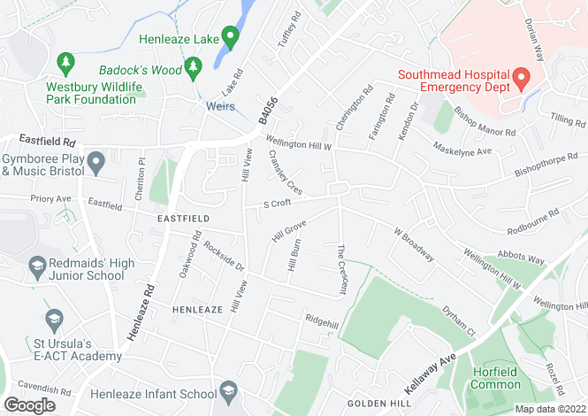 Map for Henleaze, Bristol