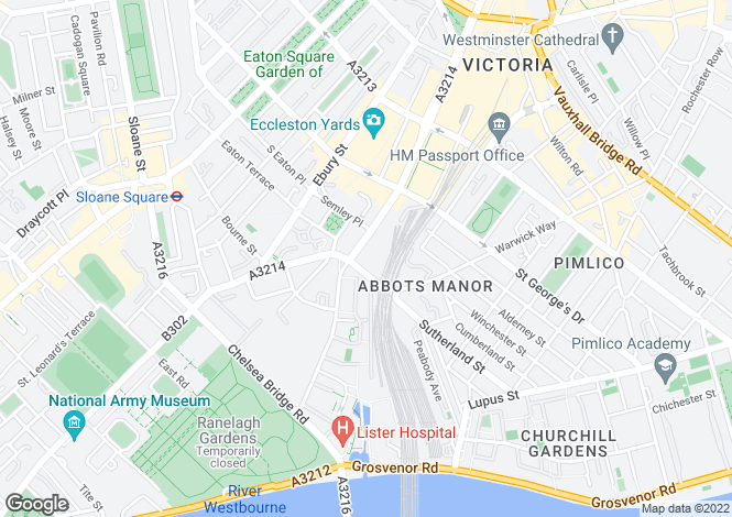 Map for Consort Rise,