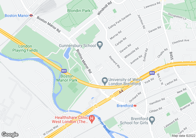 Map for Boston Manor Road,Boston Manor,Brentford