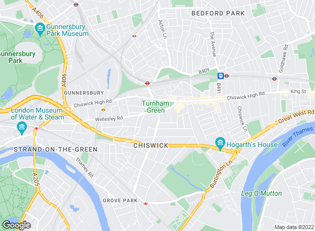 Map for Fitz-Gibbon, Chiswick