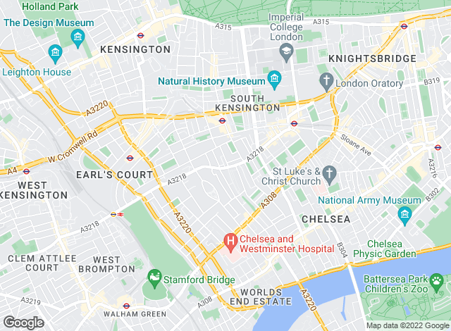 Map for Chard, Old Brompton Road