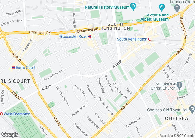 Map for Brechin Place, South Kensington, London, SW7