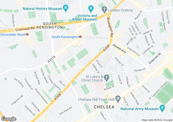 Map for Avenue Studios, Sydney Close, Chelsea, London, SW3 6HW