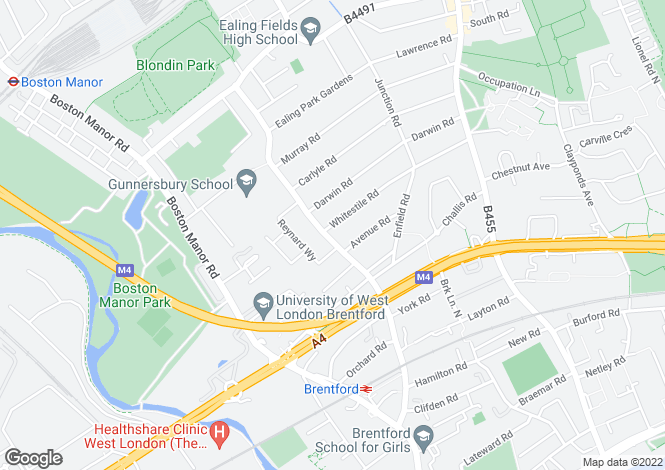 Map for Windmill Road, Brentford