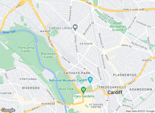 Map for Moginie James, Cardiff - Lettings