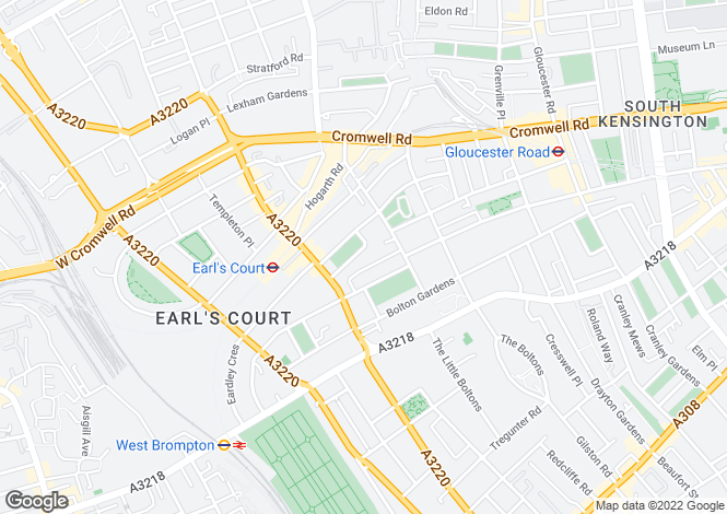 Map for Roberts Court, Barkston Gardens, Earls Court, London, SW5