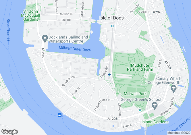 Map for Whiteadder Way, London, London, E14