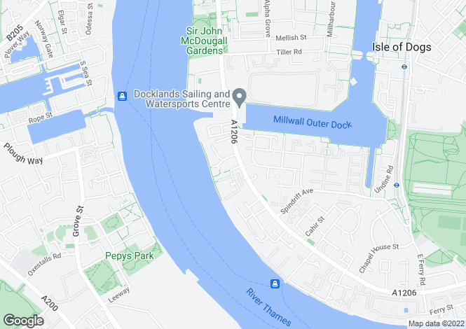 Map for No.1 West India Quay, Hertsmere Road, Canary Wharf, London, E14 3SF