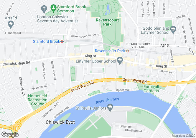 Map for Theresa Road, London W6