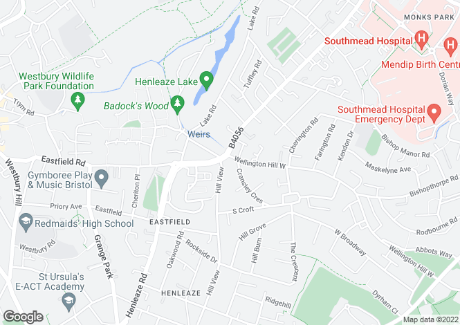 Map for HENLEAZE, 1 Bed flat