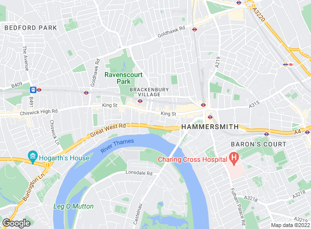 Map for Curtis and Parker, Hammersmith