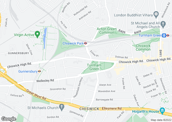 Map for Chiswick High Road,