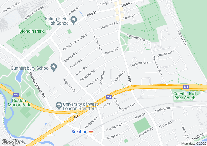 Map for Enfield Road, Brentford, TW8 9PB