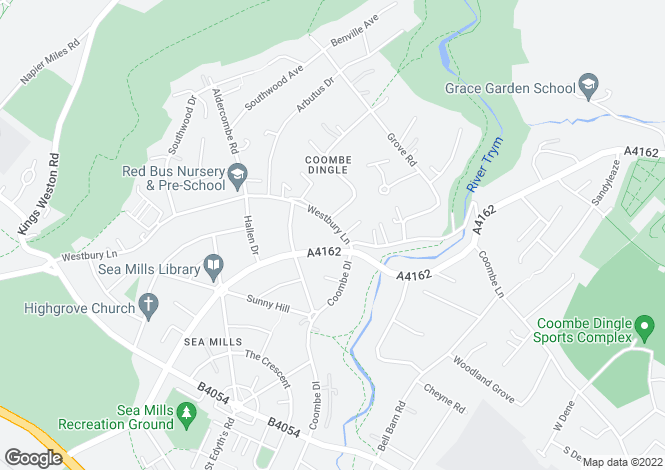 Map for Coombe Dingle, Bristol