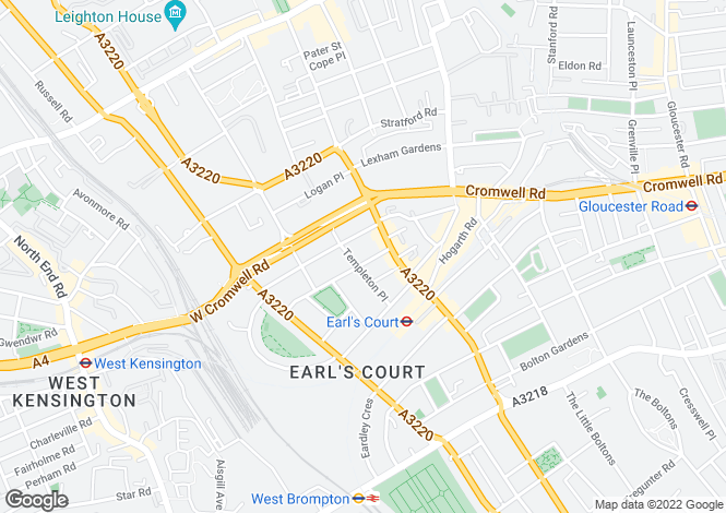 Map for Nevern Place, Earls Court, LONDON