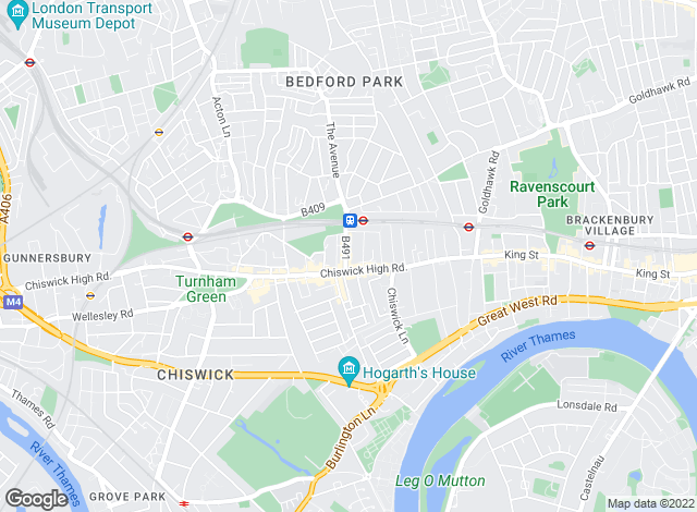 Map for Fletchers, Chiswick - Sales