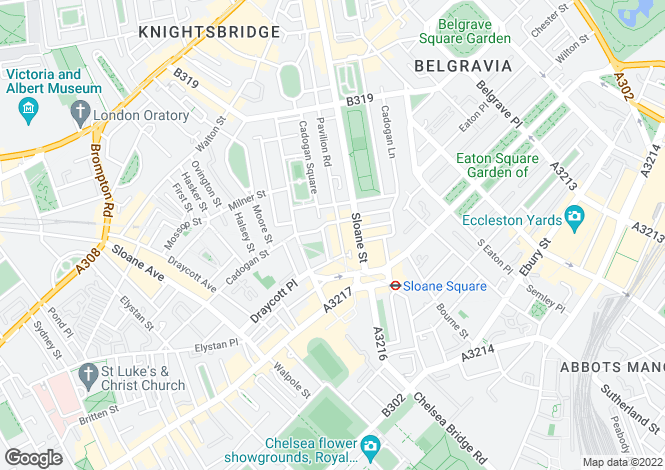Map for Cadogan Gardens, Knighsbridge, London SW3