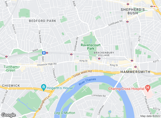 Map for Barnard Marcus, Hammersmith Auctions