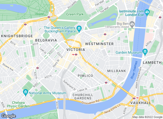 Map for Chesterton Humberts Lettings, Westminster & Pimlico