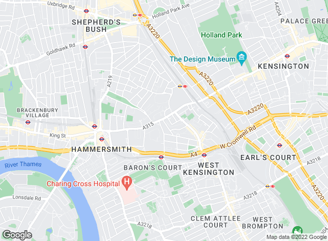 Map for Tates (Agents) LTD , West Kensington