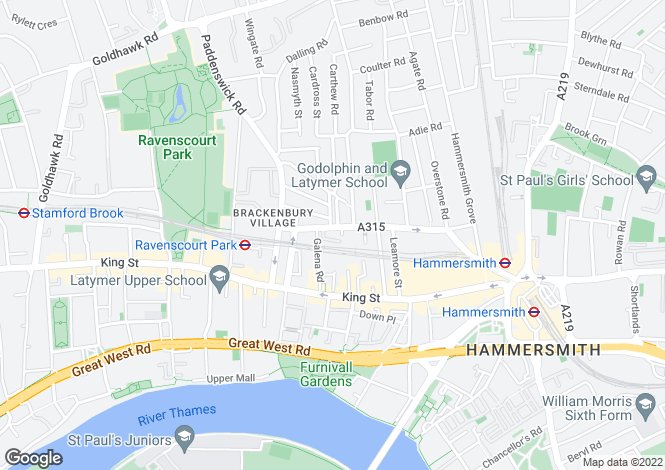 Map for Glenthorne Road,
