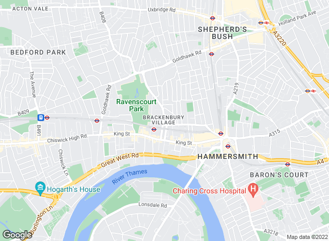 Map for Hunters, Hammersmith