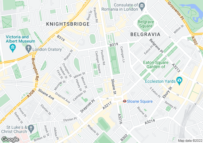 Map for CADOGAN SQUARE, Knightsbridge,