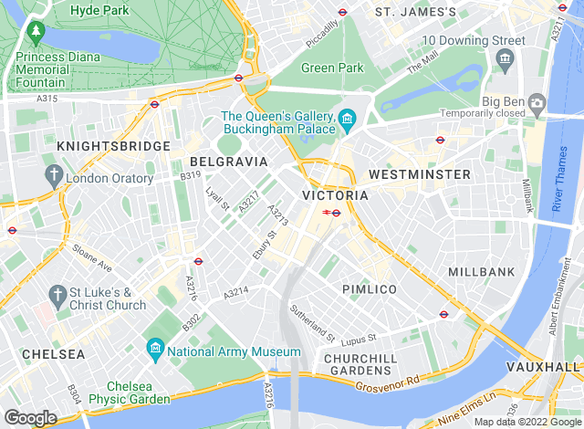 Map for Andrew Reeves, Belgravia
