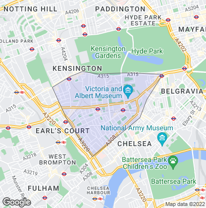 Map of property in South Kensington
