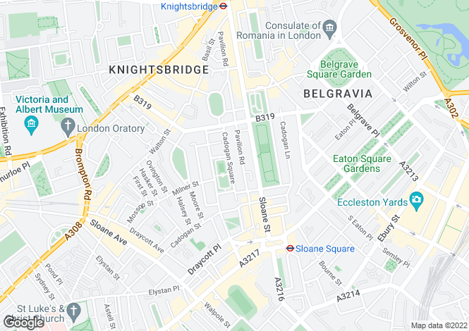 Map for CADOGAN SQUARE, KNIGHTSBRIDGE SW1