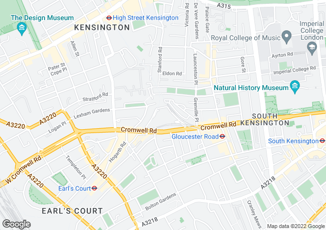 Map for Point West, Cromwell Road, South Kensington, London, SW7