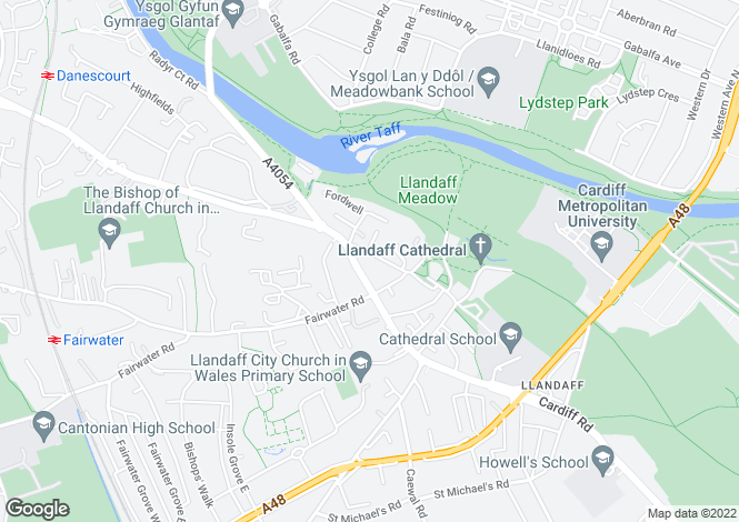 Map for The Old Police Station, Llandaff, Cardiff