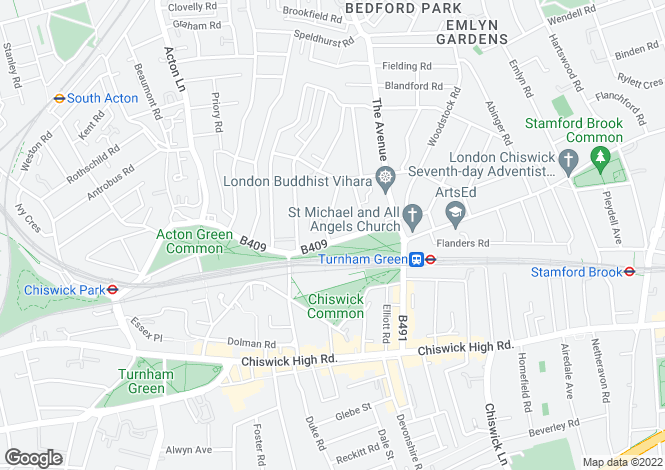 Map for South Parade, Bedford Park, London, W4