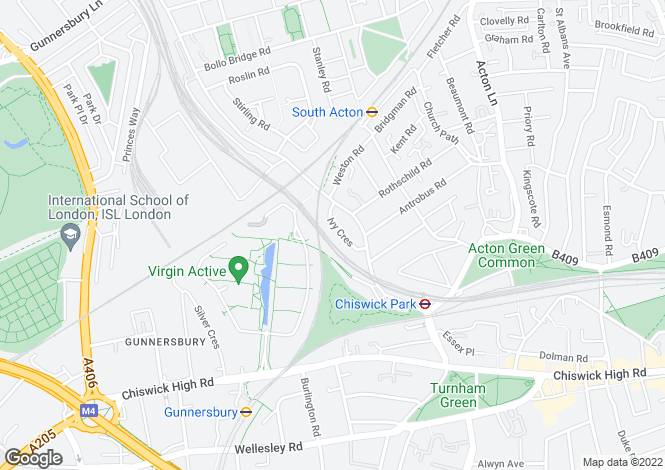 Map for Ivy Crescent, London, W4