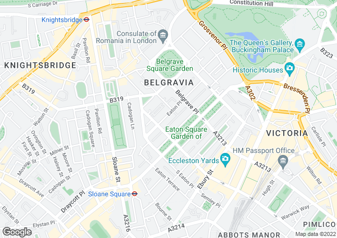 Map for Eaton Place, Belgravia,