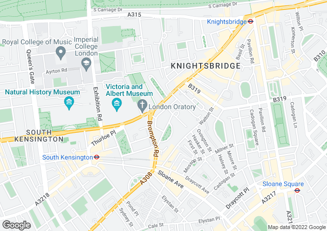 Map for Egerton Gardens, London, SW3