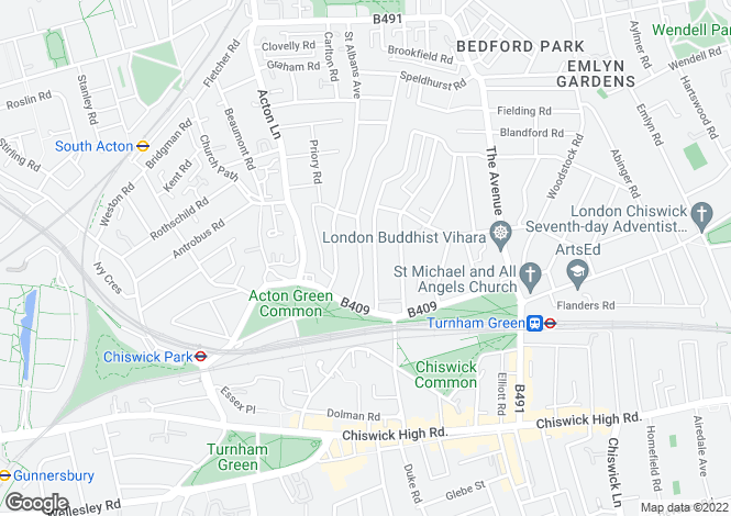 Map for Rusthall Avenue, Chiswick