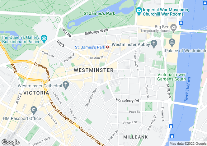 Map for Strutton Ground, Westminster, London