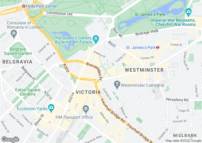 Map for Bressenden Place,