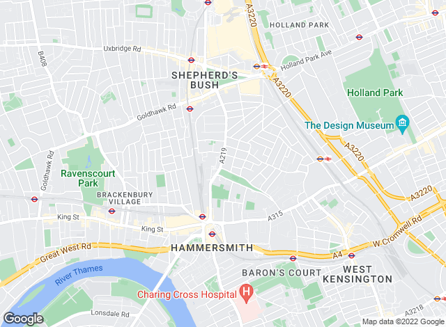 Map for Winkworth, - Hammersmith