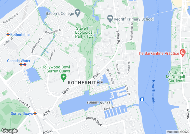 Map for Ropemaker Road Surrey Quays SE16