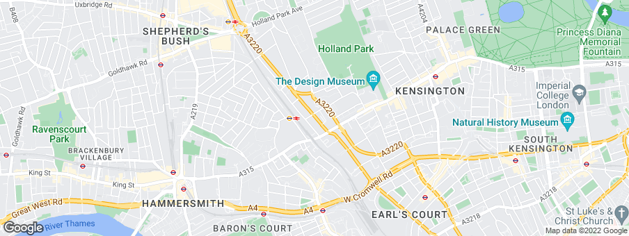 Map for 375 Kensington High Street development by St. Edward