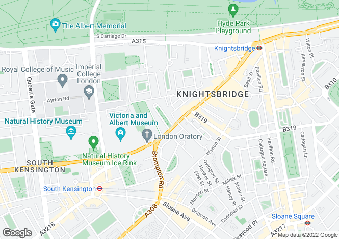 Map for Brompton Square Knightsbridge SW3