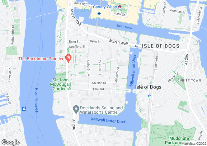 Map for Lanterns Court, 38 Millharbour, London