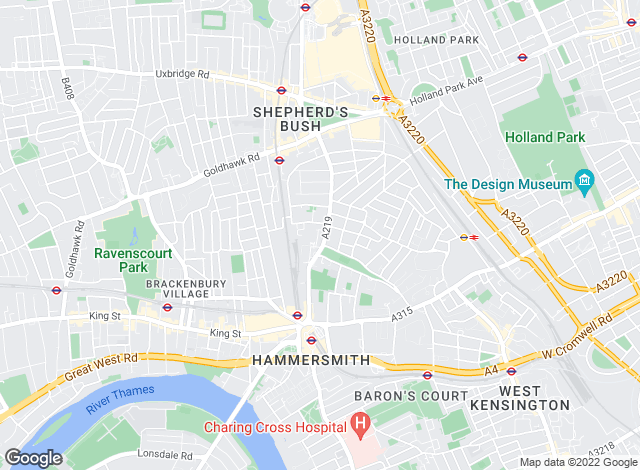 Map for Chard, Shepherds Bush Road