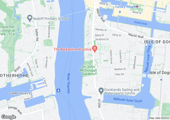 Map for Ocean Wharf, Westferry Road, Canary Wharf, Docklands, London, E14