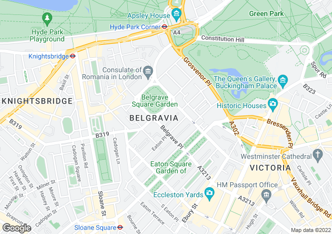 Map for Belgrave Square, London. SW1X