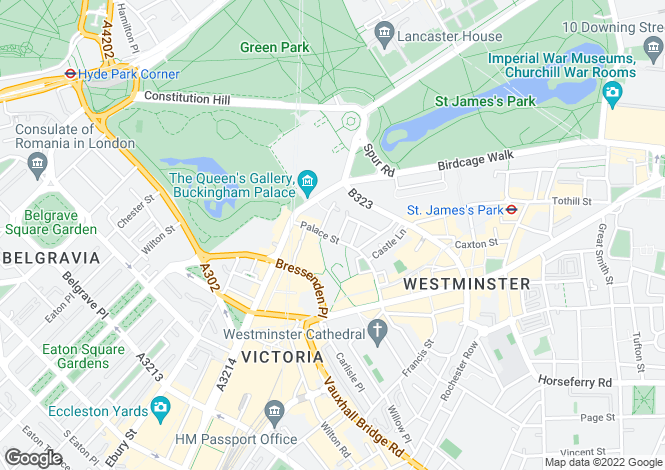 Map for The View, Palace Street, Westminster, London, SW1E