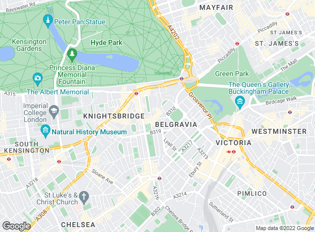 Map for Henry & James, Belgravia