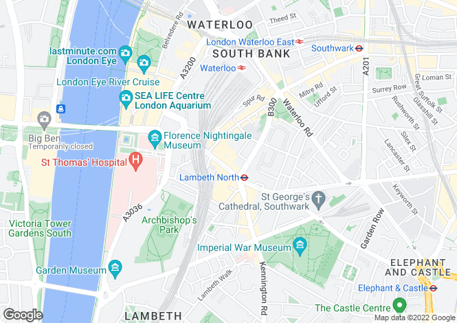 Map for 126 Westminster Bridge House, Waterloo, London